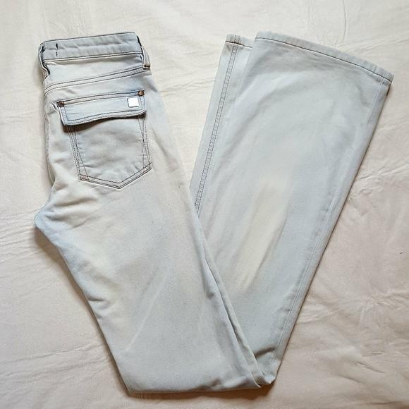 Roberto Cavalli Denim - Roberto Cavalli acid light washed flare jeans 38/8